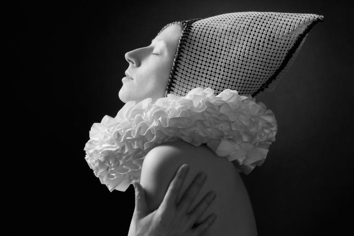 Creatief portret in zwartwit