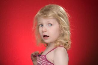 Portret-Meisje-Rood