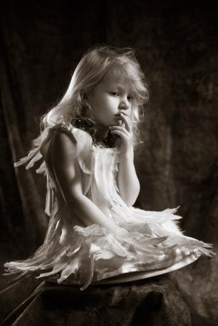 Portret meisje in verenjurk