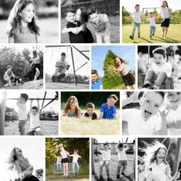 Speelse familiefoto's
